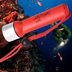【送料無料】ダイビング対応LED懐中電灯1200ルーメン(赤)◆水中ライト
