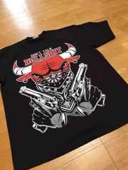 LA直輸入 BULLSデザインプリントTシャツ サイズ2XL黒ブラック