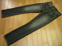 EDWINエドウィン503PREMIUMブラックデニムジーンズW28(実寸W30)