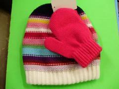ニット帽子 未使用手袋付き48−50