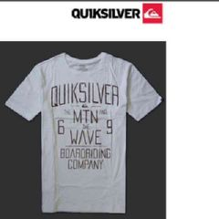 新品 クイックシルバー メンズ 半袖 Tシャツ ホワイトLサイズ