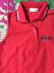ゴルフ☆赤☆ノースリーブポロシャツ☆Mサイズ☆未使用