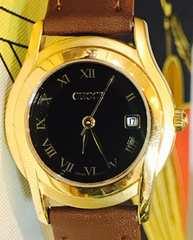 良品グッチ時計レディース5400Lブラウンレザーベルト新品
