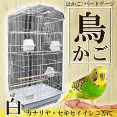 鳥かご バードゲージ 鳥小屋 セキセイインコ 白