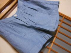 100スタ*earth*青薄手ショートパンツF*クリックポスト164円