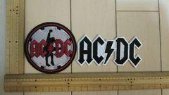 NO.51 アイロンワッペン 2枚セット AC/ DC ロック ROCK