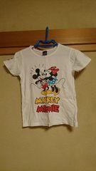 ベビド☆ミッキーミニーのラブラブ半袖Tシャツ☆140センチ♪