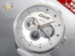 D&G(ディーアンドジー) 腕時計 - メンズ 革ベルト/クロノグラフ