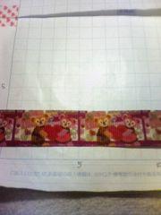 sale【濃いピンク:ハート】22mm巾 ダッフィー柄リボン1M