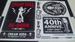 新品 クリームソーダ 40周年記念 ステッカー ブラックキャッツ ピンクドラゴン