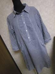 TK☆シャツワンピ♪春夏物☆七分袖2WAY☆ロングシャツ♪