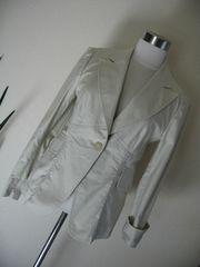 STEFANEL 美スタイル♪綿ジャケット 42・薄グレージュ