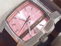 3468/DIESELディーゼル代表作ピンクCOLORダイヤルレディース腕時計