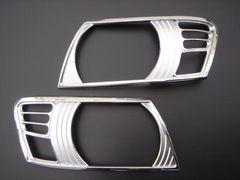 三菱 パジェロ クロームメッキヘッドライトリング  V6#系V7#系