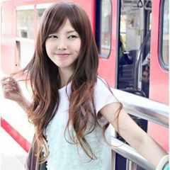 送料無料★ライトブラウン ウィッグ ロング カール 巻き髪 耐熱(ヘアネット3枚)