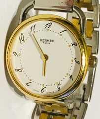 良品エルメスアルソーレディース時計稼働品クリッパーコンビ