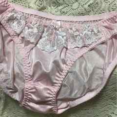送料無料ツルツル 花刺繍可愛い系2L ライトピンク