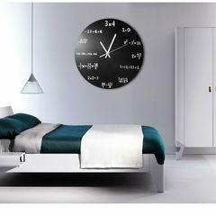 ブラック 数式 壁掛け 時計