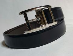 正規レア Cartierカルティエ タンク バックル リバーシブルベルト黒×茶 調節可 兼用