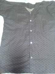 ☆新柄黒×紗綾形伝統和柄ダボシャツL