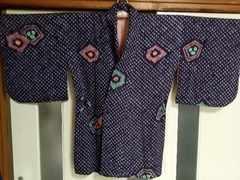 超美品♪絞り羽織☆アンティーク昭和レトロ(紫)