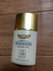 ドクターシーラボ Wエンリッチミルク40R14 日焼け止め乳液 半分