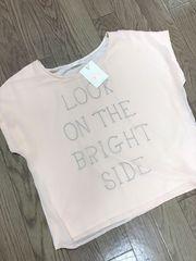 Vis/ピンクのロゴシフォンTシャツ/Mサイズ/新品・未使用・タグ付き