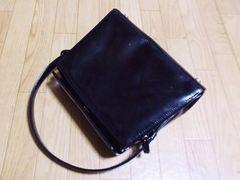 【セール】ヨンドシー/4℃革製ハンドバッグ(ブラック)