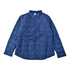 新品■LL大きいサイズ■中綿シャツジャケット■ブルー
