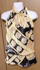M19】スカーフ柄 トップス サイズxs