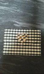 サマンサタバサ白黒チェック柄カードケース