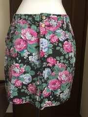 アメリカ古着  レトロ 花柄スカート  ビンテージ