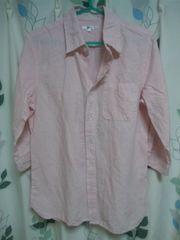 麻シャツ リネン コットン 五分袖 半袖 新品 Sサイズ メンズ