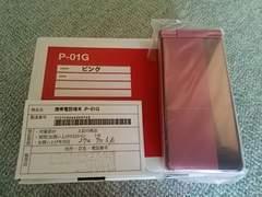 未使用品/P-01G 希少iモード携帯 防水 ピンク 本体及び付属品