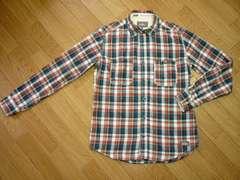 ディッキーズ SLIM FIT チェック柄 長袖シャツ ワークシャツ