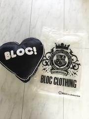 モバオクで買える「未使用 BLOC ハート型クッション ブロック」の画像です。価格は100円になります。