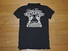 HYSTERIC GLAMOURヒステリックグラマーガールポロシャツS黒