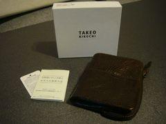TAKEO KIKUCHI タケオ・キクチ ハンドメイド 二つ折り 財布 ブラウン
