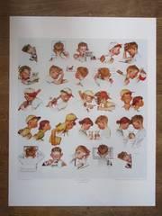 57x74cm  *Art Print  ノーマン・ロックウェル  *少年の1日  nr1