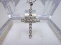 Folli Folli フォリフォリ K18 クロス 十字架 ダイヤネックレス