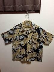 超BIG sizeアロハシャツ 百虎  4L   美品 ブラック