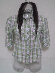 ○チェックシャツ