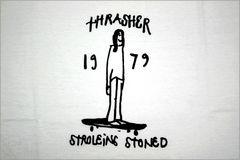 即決新品 THRASHER Tシャツ XL◆白スラッシャー スケーター ストリート2017