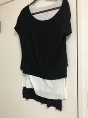 ザラ デザインTシャツ f