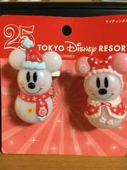 ☆TDR25周年☆ミッキー&ミニー☆ライティングバッジ☆