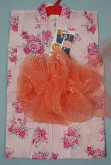 子供浴衣2点セット★女の子110cmゆかた兵児帯★ピンク薔薇16