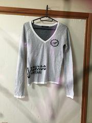 H043/moussy/ホワイト/セーター/