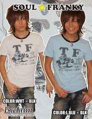 SOUL☆FRANKY梅しゃん着FRANKYRACINGTシャツ/S