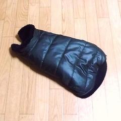 中綿ダウンコートドッグウエア(黒)DS・犬・洋服