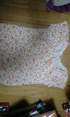 オレンジの花柄キャミソール(130�a)